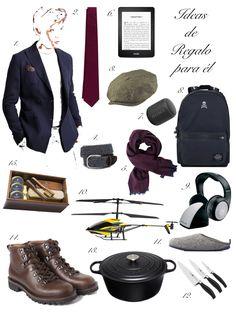 Ideas de Regalo para él para Navidad.  Holiday Gift Guide for him.