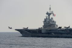 On the 27th of October 2012, HMS NORTHUMBERLAND conduceted exercises with the French Carrier Strike Group. The type 23 frigate conducted formations with French aircraftt carrier Charles De Gaulle, FS Jean De Bart and FS Jean De Vienne. The British warship has been in company with the CSG conducting Exercise Corsican Lion 12 in the Mediterranean.