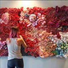 """""""Philadelphia area artist Kate Leibrand creates textile-based artwork that is me. - """"Philadelphia area artist Kate Leibrand creates textile-based artwork that is mesmerizing with it - Textile Fiber Art, Textile Artists, Weaving Art, Tapestry Weaving, Fabric Manipulation, Soft Sculpture, Felt Art, Embroidery Art, Philadelphia Area"""