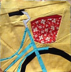 Bicycle quilt block pattern by trilliumdesign
