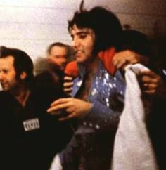 """Ladies and Gentlemen, Elvis has left the building"". Elvis learnt not to hang about because that would be when he got rushed, and as he got more popular the more dangerous it became. Not just for Elvis but his fans"