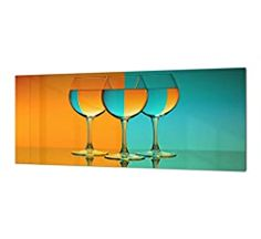Toughened Heat Resistant Printed Kitchen Glass Splashback Cheese /& Wine Design