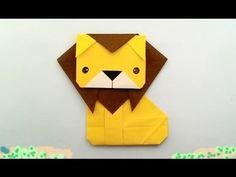 Origami Lion, Cute Origami, Origami Animals, Origami Stars, Diy Origami, Origami Tutorial, Paper Origami Flowers, Origami Paper Folding, Origami And Kirigami
