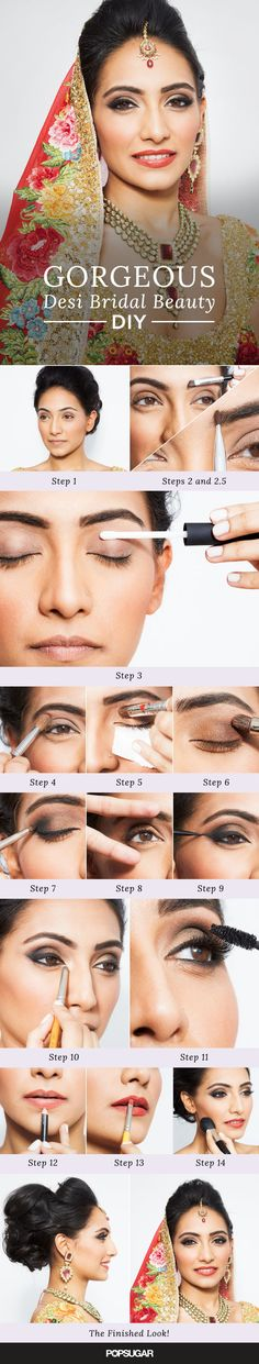 Combine Indian and American traditions for your wedding makeup with this positively stunning Desi bridal beauty DIY! We break down every step for you so you can create the look at home — and we threw in a few beauty tricks and tips along the way.