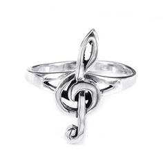 @Overstock.com - Sterling Silver Small Treble Clef Musical Note Ring (Thailand) - Express your love for music through fashion with this charming sterling silver music note ring from Thailand. Featuring an elegant treble clef note, this shiny metal ring is coated in a durable anti-tarnish finish that catches the light beautifully.  http://www.overstock.com/Worldstock-Fair-Trade/Sterling-Silver-Small-Treble-Clef-Musical-Note-Ring-Thailand/7949621/product.html?CID=214117 $21.24