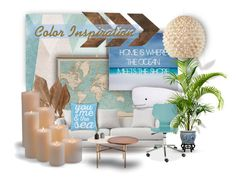 """Color Inspiration"" by maison-de-forgeron ❤ liked on Polyvore featuring interior, interiors, interior design, home, home decor, interior decorating, Sandberg Furniture, WALL, Bliss Studio and Thro"