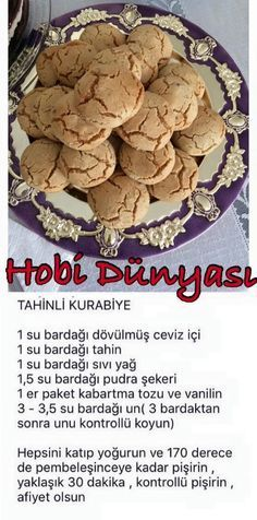 Visit the site for details. Visit the site for details. Tea Time Snacks, Cookie Recipes, Snack Recipes, Yummy Food, Tasty, Turkish Recipes, Sweet Recipes, Yummy Recipes, Food To Make