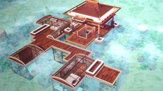 Sims 4 Kai Bellvert: Unterwasser-Tropenhaus Kitchen Improvements - Enjoy Now and When You Sell Who w Lotes The Sims 4, Sims Cc, Kai, Sims 3 Mansion, Minecraft Underwater House, Sims 3 Houses Plans, House Plans, Sims 4 House Building, Building Games