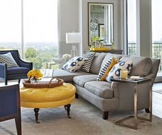 Yellow Living Room Ideas Navy Blue Grey Black Grey And with regard to Blue And Y. Yellow Living Room Ideas Navy Blue Grey Black Grey And with regard to Blue And Yellow Living Room S Navy Blue And Grey Living Room, Blue Living Room Decor, Living Room Color Schemes, Coastal Living Rooms, Living Room Accents, Grey Room, New Living Room, Blue Grey, Small Living