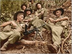 Australian soldiers from the Infantry Battalion at Kokoda during World War II. Burma Campaign, Army Pics, British Armed Forces, Anzac Day, Fallen Heroes, British Army, Papua New Guinea, World War Two, Wwii