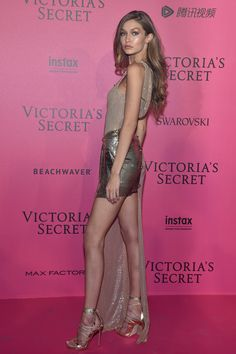 Gigi Hadid in Versace - Red Carpet, Victoria's Secret Fashion Show 2016