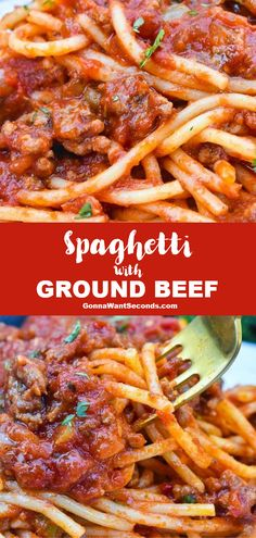 NEW Spaghetti Recipe with Ground Beef simmers dynamic flavors into a perfectly rich meaty sauce. This only needs simple ingredients! The post Spaghetti Recipe with Ground Beef appeared first on Tasty Recipes. Bacon Recipes, Easy Chicken Recipes, Easy Healthy Recipes, Cooking Recipes, Minced Beef Recipes Easy, Easy Meals, Spaghetti Dinner, Spaghetti Squash, Spaghetti Salad