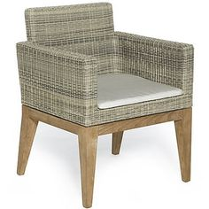 Stylish chair with teak legs. £775.99 http://www.worldstores.co.uk/p/eyeSEA_Dining_Chair.htm