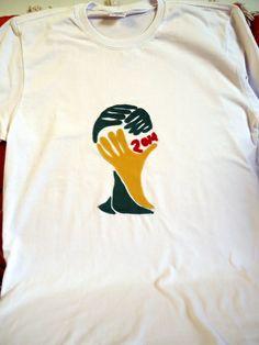 Camiseta em malha super macia de Santa Catarina, aplique em tecidos em algodão tamanho M. Aceitamos encomendas em outras cores e  tamanhos. R$ 35,00