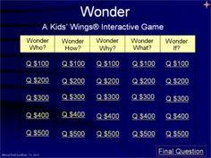 Kids Wings Activities for WONDER by R. J. Palacio