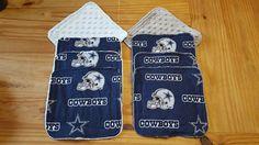 Dallas Cowboys Baby wash cloths Set of 4 wash by sewtasticthings