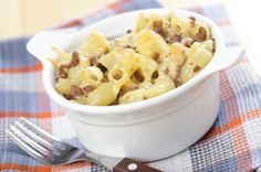 Hungry Girl's Cheeseburger Mac Attack--way fewer calories than a traditional version!!