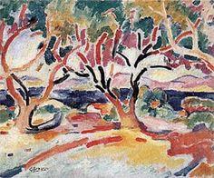 "Georges Braque, ""Olive Trees"",1907, Worcester Art Museum. #olivetree #Laudemio #artgallery #art #Braque"