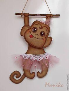Купить Обезьянка Интерьерная игрушка - коричневый, обезьянка, мартышка, обезьяна, символ 2016 года