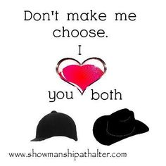It's true I love both(: #Arabians #show #hats