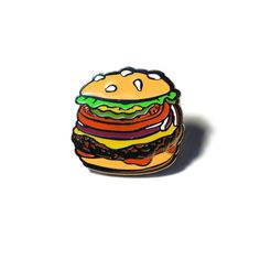 The Studio JFISH Burger Lapel Pin *ECCC 2016 Pre-Order* by StudioJFISH on Etsy https://www.etsy.com/au/listing/228422072/the-studio-jfish-burger-lapel-pin-eccc