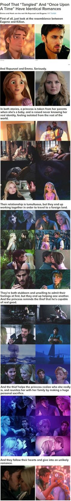 Proof that Tangled and Captain Swan has an extremely similar romance!