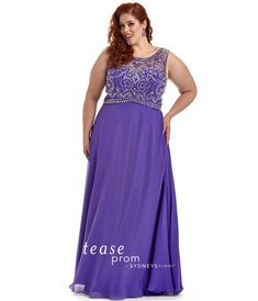 Prom Dress Sydney's Closet #TE1604 Plus Size Purple size 26