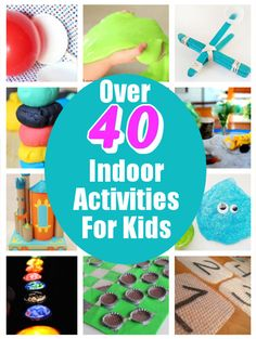 Keep your kids from getting stir crazy this winter with these fun indoor games, experiments, and crafty ideas.