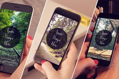 3 iPhone6 Mockups in Girls Hand by DesignLux on Creative Market