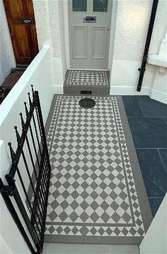 front step tiles - Victorian mosaic tiles