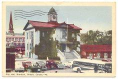 CITY HALL, BRANTFORD, ONTARIO, CANADA 1949 — Ancient Tony Vintage PostCards