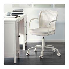 GREGOR Swivel chair - white/Vittaryd light beige, - - IKEA