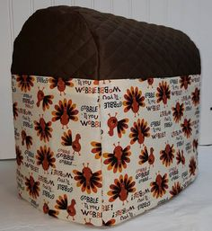 Check out this item in my Etsy shop https://www.etsy.com/listing/468948001/chocolate-brown-quilted-thanksgiving