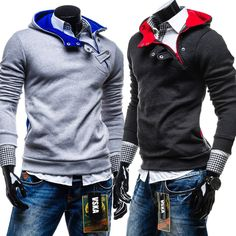 2015 new fashion slim plus fleece hooded head sets men's hoodie - http://nklinks.com/product/2015-new-fashion-slim-plus-fleece-hooded-head-sets-men-s-hoodie/
