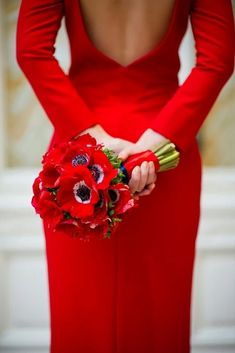 Red dress and Anemones I See Red, Simply Red, Red Gowns, Red Aesthetic, Cherry Red, Red Poppies, Red Flowers, Red Fashion, Shades Of Red