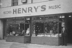 (Apr John Kimber said: Ah Henry's Records. Old Pictures, Old Photos, Southampton England, Store Window Displays, Hampshire, Postcards, The Past, Memories, History