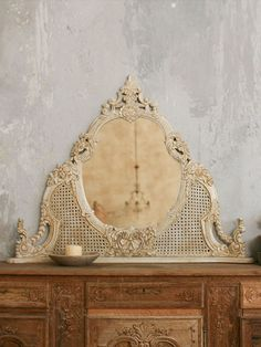 Vintage Cane Mirror