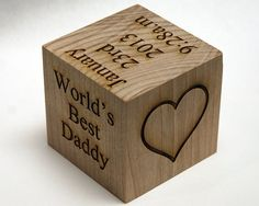 Personalized Father's Day Gift wooden baby by MemoriesMadeToronto