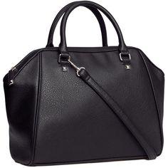 H&M Handbag (20 CAD) ❤ liked on Polyvore featuring bags, handbags, shoulder bags, purses, black, accessories, black shoulder bag, h&m purses, black handbags and h&m