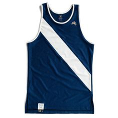I wear the Tracksmith Singlet in the summer or an extra layer over the Tracksmith long sleeve top in the winter.