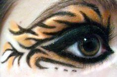 Tiger Makeup by Cannibal-Kenzi on DeviantArt Tiger Costume Women, Tiger Halloween Costume, Halloween Eye Makeup, Maquillage Halloween, Halloween Looks, Halloween Make Up, Halloween Ideas, Makeup 2016, Animal Makeup