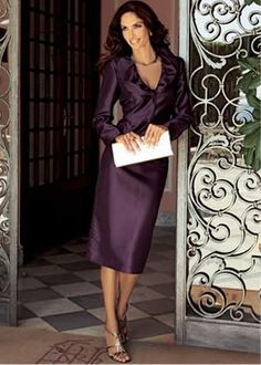 purple mother of the bride dress. My mother could totally pull this off!