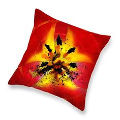 Red and Yellow Flower Throw Pillow, Home Decor, Throw Pillow. Click through to learn more. Funny Pillows, Throw Pillows, Covered Pergola, Red Art, Home Decor Shops, Pillow Set, Cheap Home Decor, Yellow Flowers, Poppies