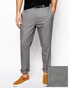 ASOS Slim Fit Smart Trousers In Twill