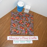 Peaches on Purple Tater Baker Bag for Microwave