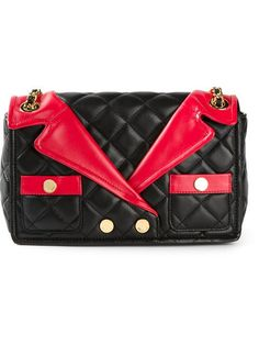 Moschino Quilted Jacket Effect Shoulder Bag - Luisa World - Farfetch.com
