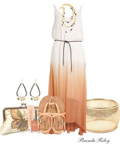 """""""Maxi Dress with Amrita Singh Jewelry"""" by brendariley-1 on Polyvore"""