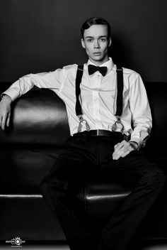 Male Model: Milan from AWA Models  Fashion / Portrait black & white Shooting in Hamburg