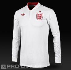 Umbro England 2012 LS Home Shirt