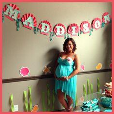Maddison's Sign - mermaid baby shower